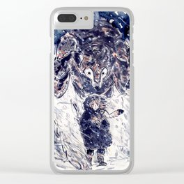 Lyra and Iorek Clear iPhone Case