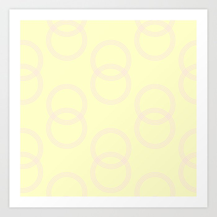 Simply Infinity Link Pink Flamingo on Pale Yellow Art Print