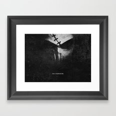 Monster.Scratch. Framed Art Print