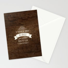 Under His Wings - Psalm 91:4 Stationery Cards
