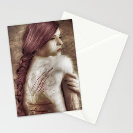 A young woman Stationery Cards