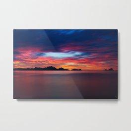 Sunset In Palawan Metal Print