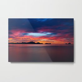 Sunset In Palawan Metal Print