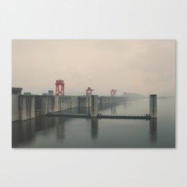 Foggy Three Gorges Dam Canvas Print