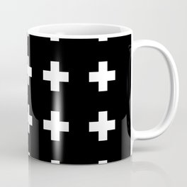 Swiss Cross Black Coffee Mug