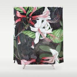 Honeysuckle Swamp Pink Flowers Shower Curtain