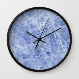 Juliette blue marble Wall Clock