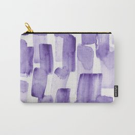 Purple Watercolour Patterns | 190129 Abstract Art Watercolour Carry-All Pouch