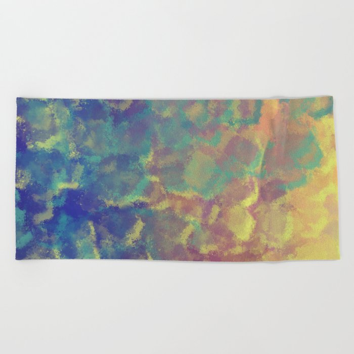 Watercolor Splash #4 #art #society6 Beach Towel