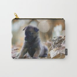 Beautiful puppies in autumn leave Carry-All Pouch