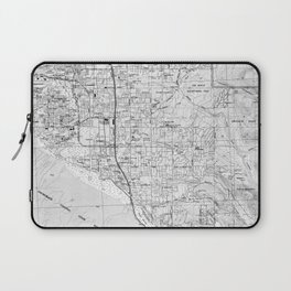 Anchorage Alaska Map (1994) BW Laptop Sleeve