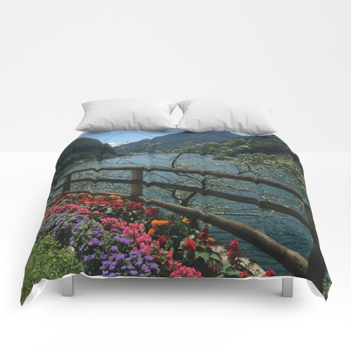 Floral Mountain Vista Comforters