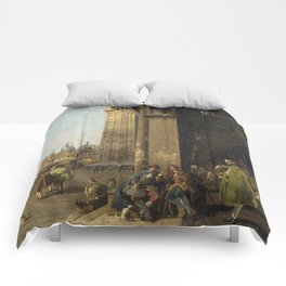Venice, The Piazza San Marco by Canaletto Comforters