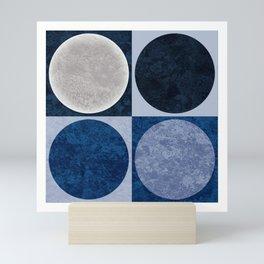 Full Moons in Blue Mini Art Print