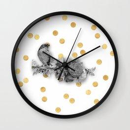 shabby chic birds Wall Clock