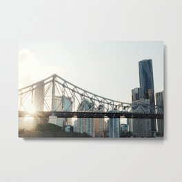 Sunset in the city Metal Print