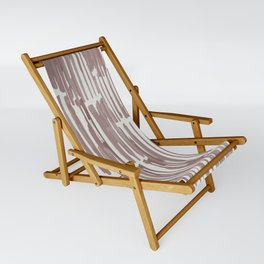 Simply Bamboo Brushstroke Red Earth on Lunar Gray Sling Chair