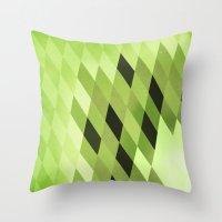 kiwi Throw Pillows featuring Kiwi by SilShapes