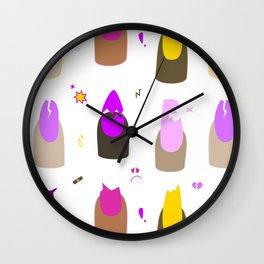 It Be Ya Own Nails (White) Wall Clock