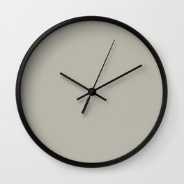 PUSSYWILLOW Neutral solid color Wall Clock