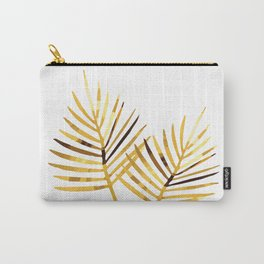 Palm Leaf Illustration white background Carry-All Pouch