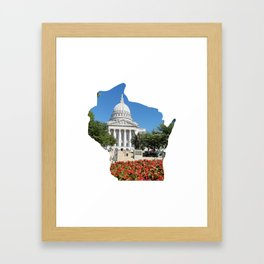 Beautiful Capitol Building in Wisconsin Framed Art Print