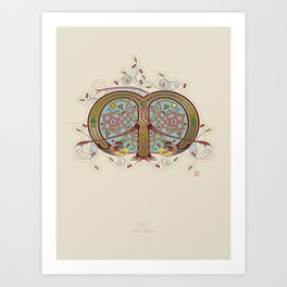 Celtic Initial M Art Print