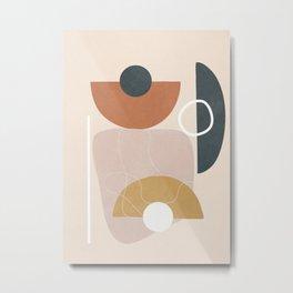 Minimal Abstract Shapes No.56 Metal Print