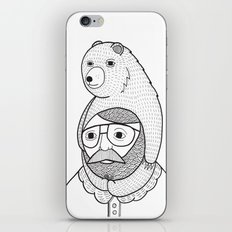On how baby bears are often used as winter hats iPhone Skin