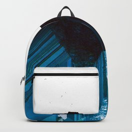 Glitch Valley Blue Backpack