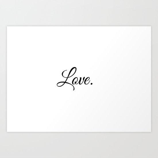 Love romantic style Art Print