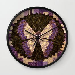 Fly Far And Wide Butterfly Wall Clock
