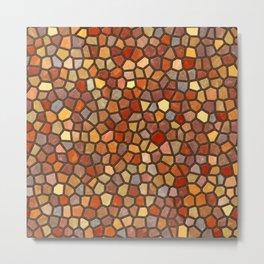 Fall Colors Mosaic Pattern - dark Metal Print