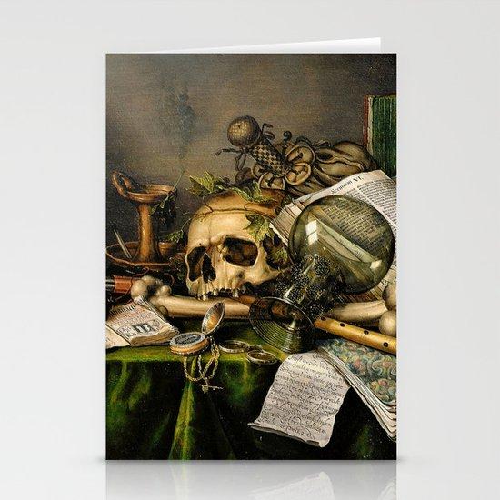 Vintage Vanitas- Still Life with Skull Stationery Cards