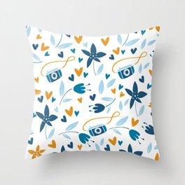 Summer Travel Pattern Throw Pillow