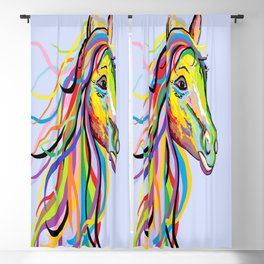 Horse of a Different Color Blackout Curtain