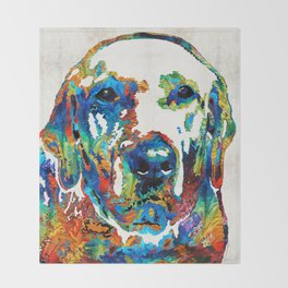 Labrador Retriever Art - Play With Me - By Sharon Cummings Throw Blanket