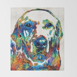 Labrador Retriever Art - Play With Me - By Sharon Cummings Throw Blanket
