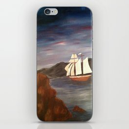 Sailing at Dusk iPhone Skin