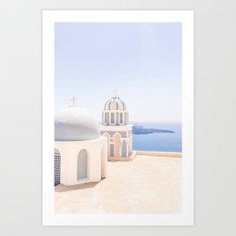 485. Another view from Fira, Santorini, Greece Art Print