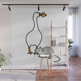 White Goose Steals Crown from Metal Rat Wall Mural