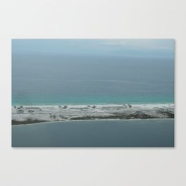 Island Life from the Sky Canvas Print