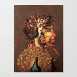 The Air by Giuseppe Arcimboldo - The Four Elements Canvas Print