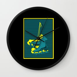 Ice Skating Shoes Wall Clock