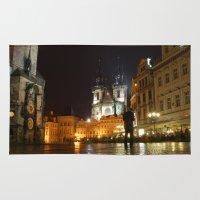 prague Area & Throw Rugs featuring Prague by lularound