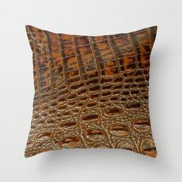 It's A Croc! - Faux (2D) Crocodile Hide Throw Pillow