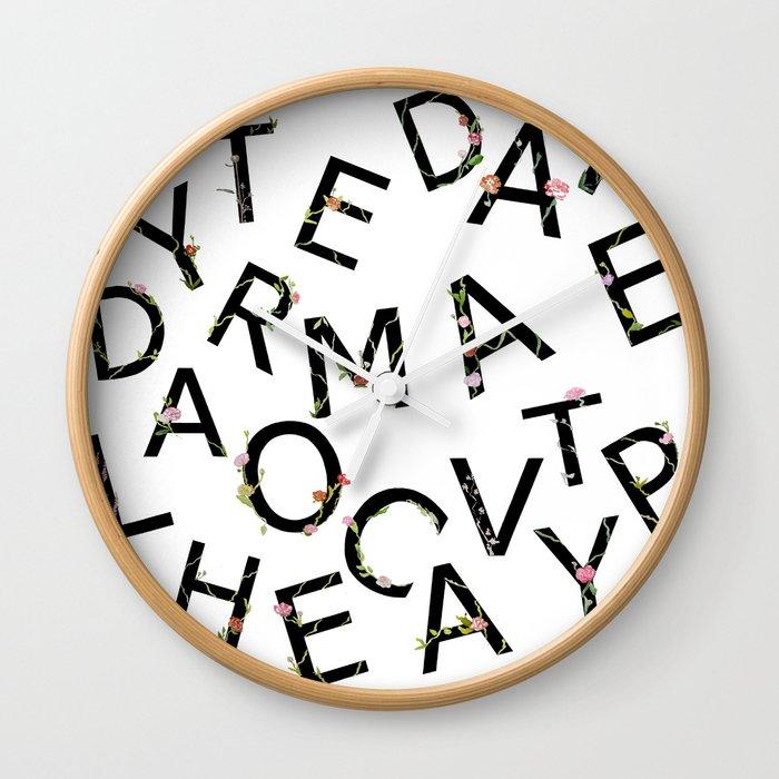 Letters Pattern Wall Clock