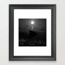 Drawlloween 2016: Moon Framed Art Print