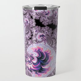 Pink and Purple Fractal Travel Mug