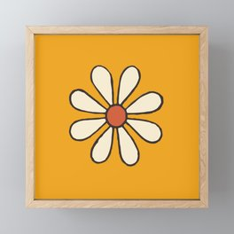 Talavera Orange Daisy Framed Mini Art Print